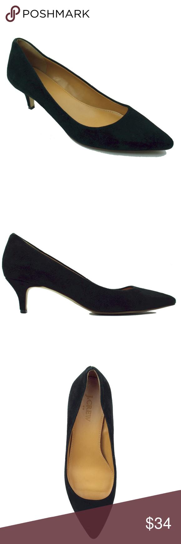 0ad4f977e36 JCREW Black Suede Esme Kitten Heels Shoes Size - 6.5 B These black suede  esme kitten