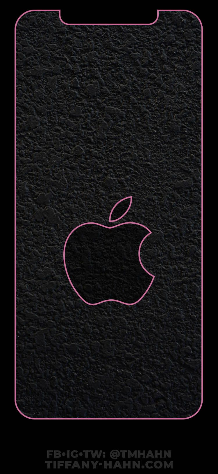 This Wallpaper Will Perfectly Fit The Iphone Xs Max The Outline Is Pink The Inside Is A Dark Gray Pave Apple Wallpaper Iphone Apple Wallpaper Fitness Tattoos