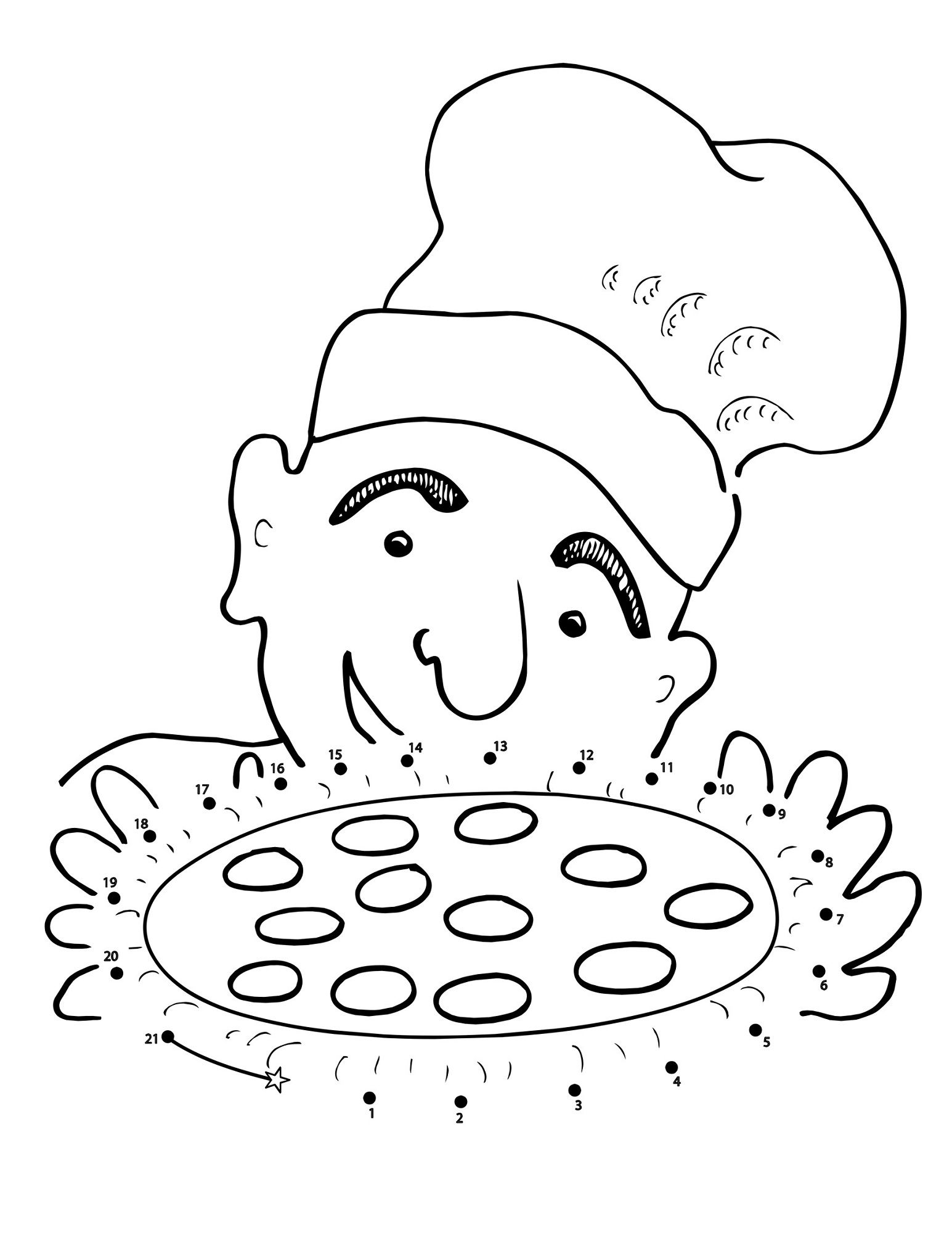 Pizza Maze For Kids Mazes For Kids Coloring Pages Printable