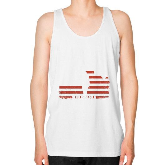 A Mother a veteran Unisex Fine Jersey Tank (on man)
