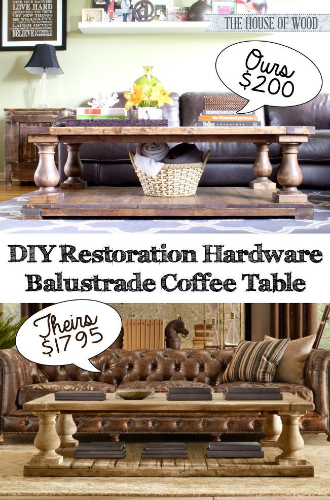 Make Your Own DIY Restoration Hardware Inspired Coffee Table