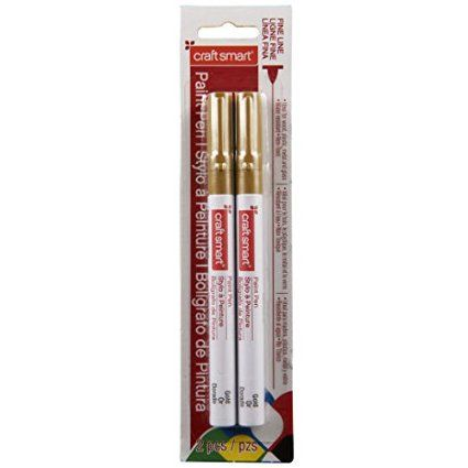 Fine Line Paint Pen, 2 Pack in Gold by Craft Smart