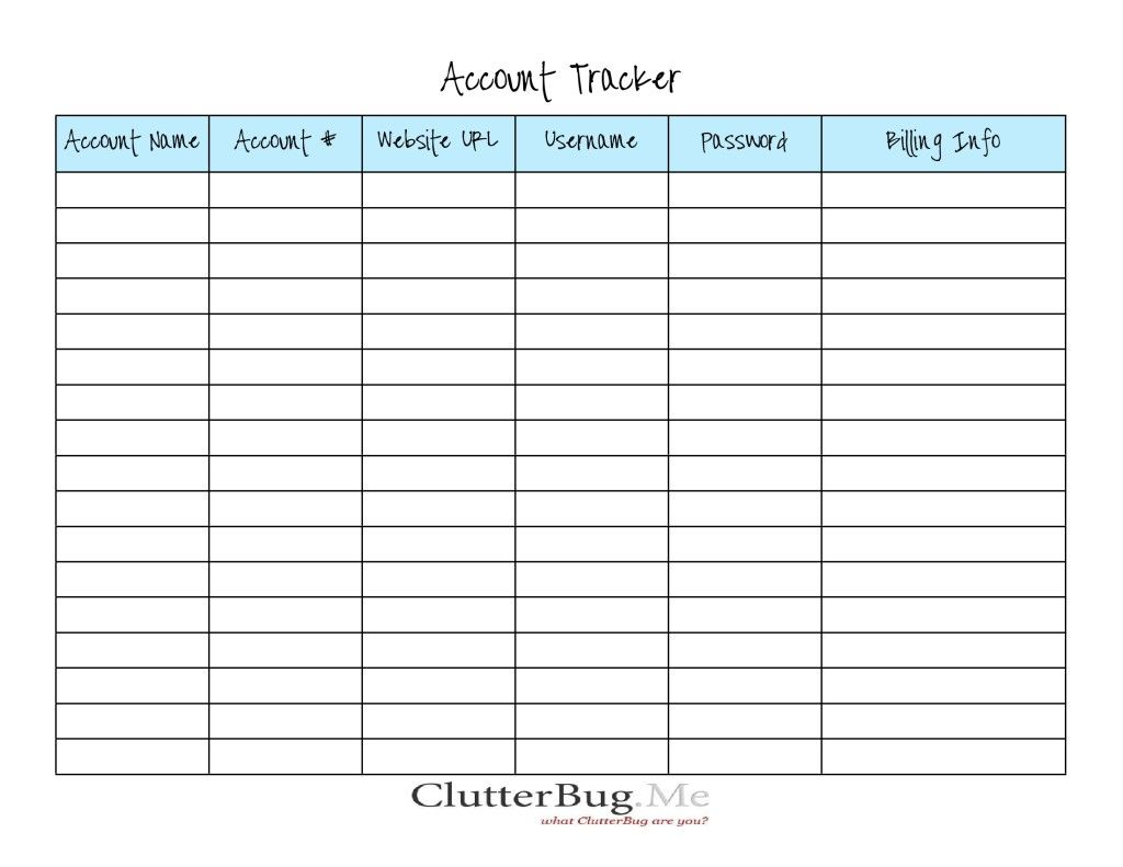 Free Printables From Clutterbug Cleaning Decluttering