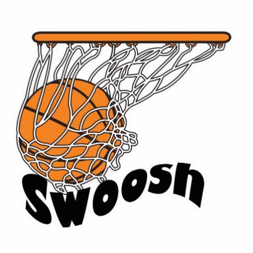 basketball swishing through net