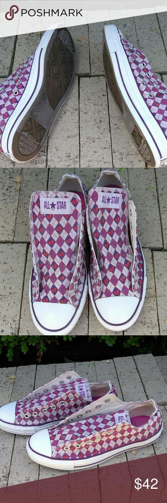 e6f1d8bdfb62 All Star Converse Broken Heart Shoes Men 8 Women 1 All Star Converse Broken  Heart Shoes