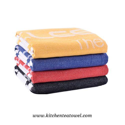 Wholesale Jacquard Waffle 100 Cotton Kitchen Towels Tea Towels