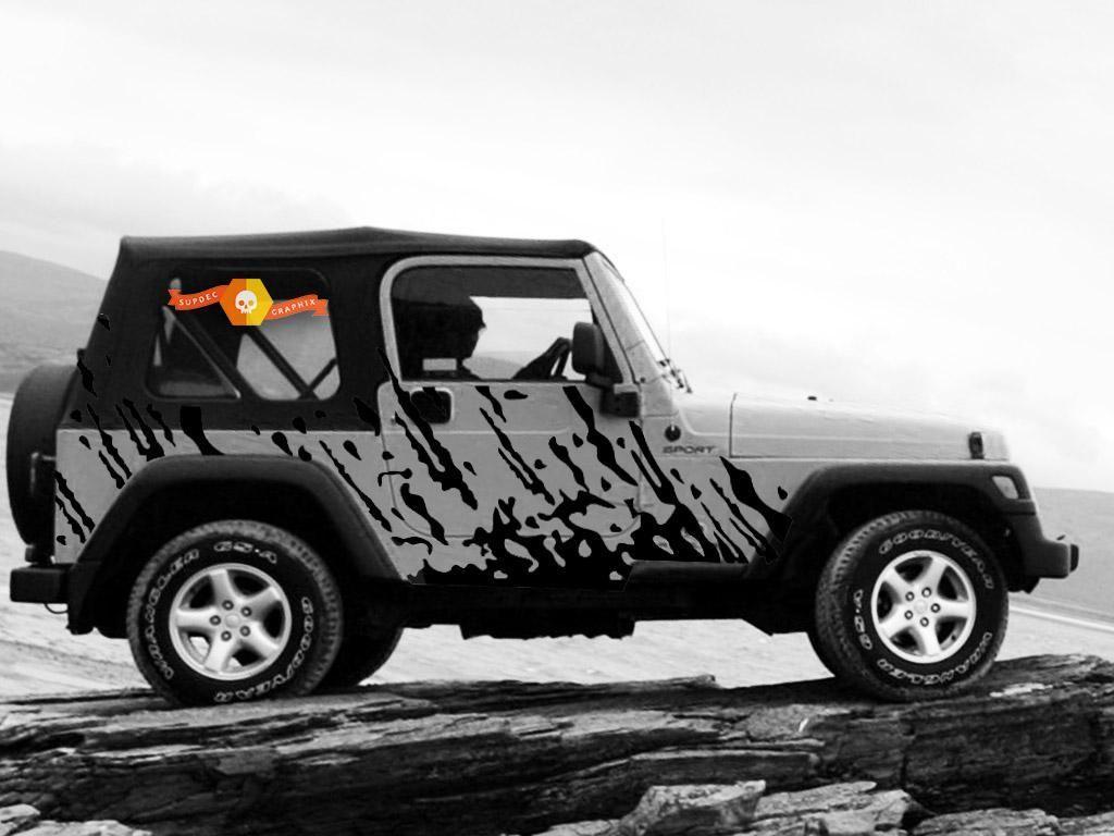Jeep Wrangler 1999 2006 Custom Vinyl Decal Wrap Kit Burst In 2021 Jeep Wrangler Accessories Jeep Wrangler Jeep Decal