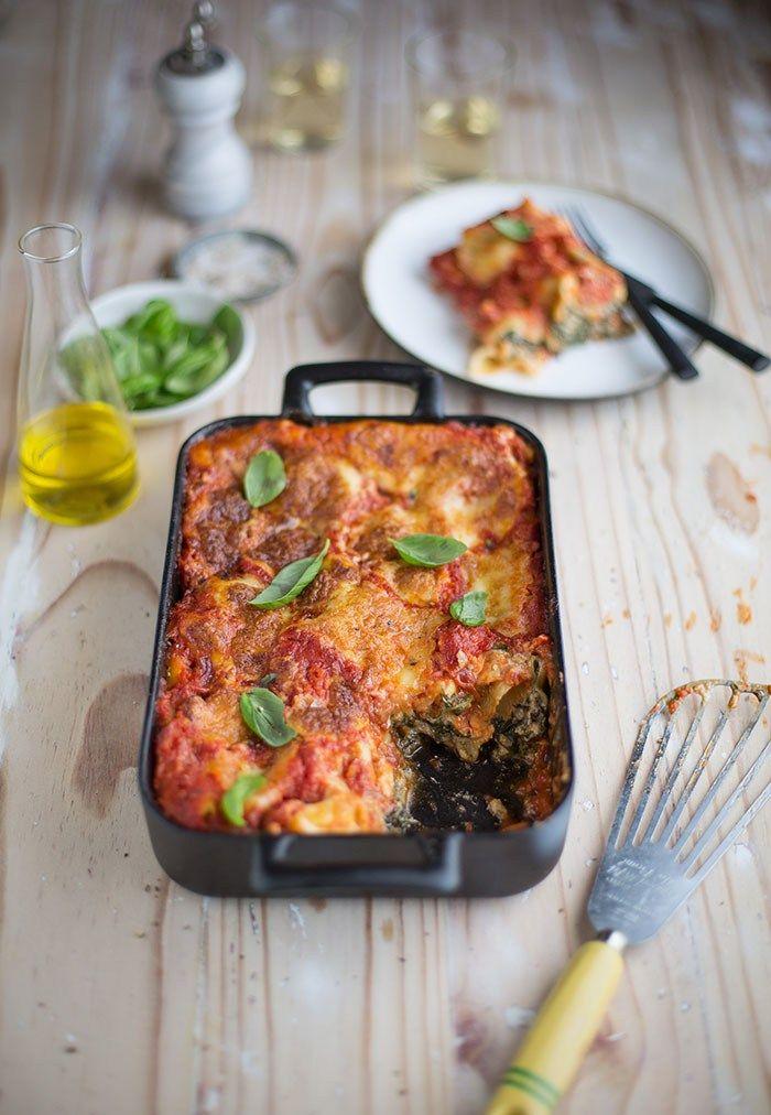 spinach & ricotta cannelloni bake