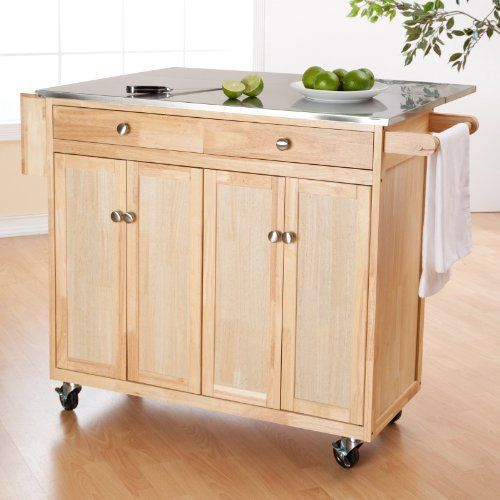 The Milano Kitchen Island With Changeable Feet And S Color Light Wood By Finley Home 399 98 A Long Running Customer Favorite
