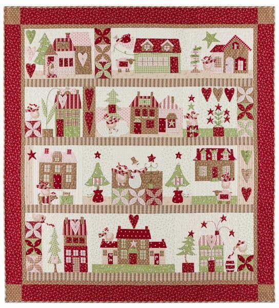 Mistletoe Lane Quilt By Anne Sutton Of Bunny Hill Designs Quilt Patterns Quilts Quilt Kits