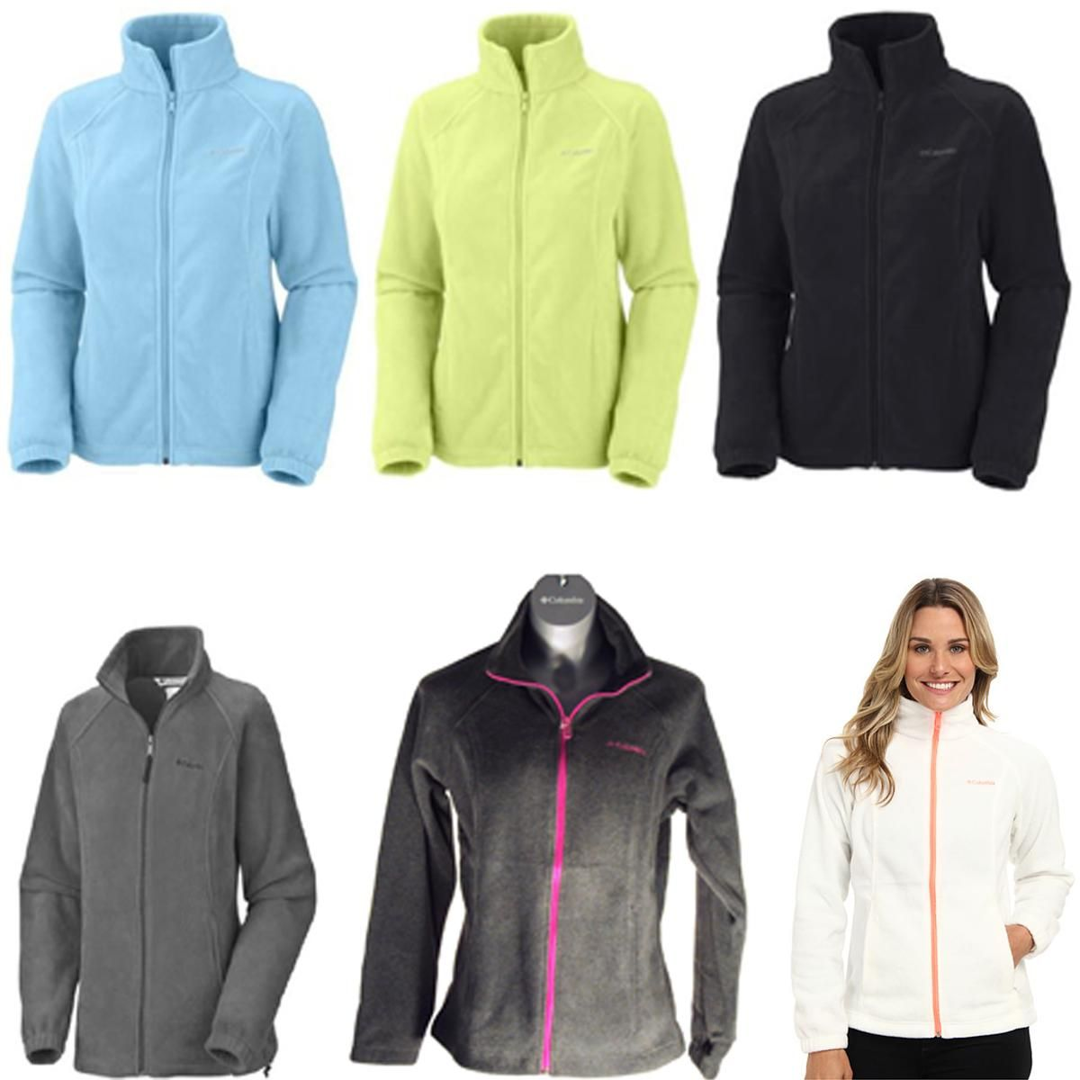Columbia womens benton springs full zip fleece jacket