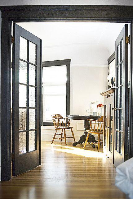 House 7 Living Room White White Walls Living Room Wood Floor