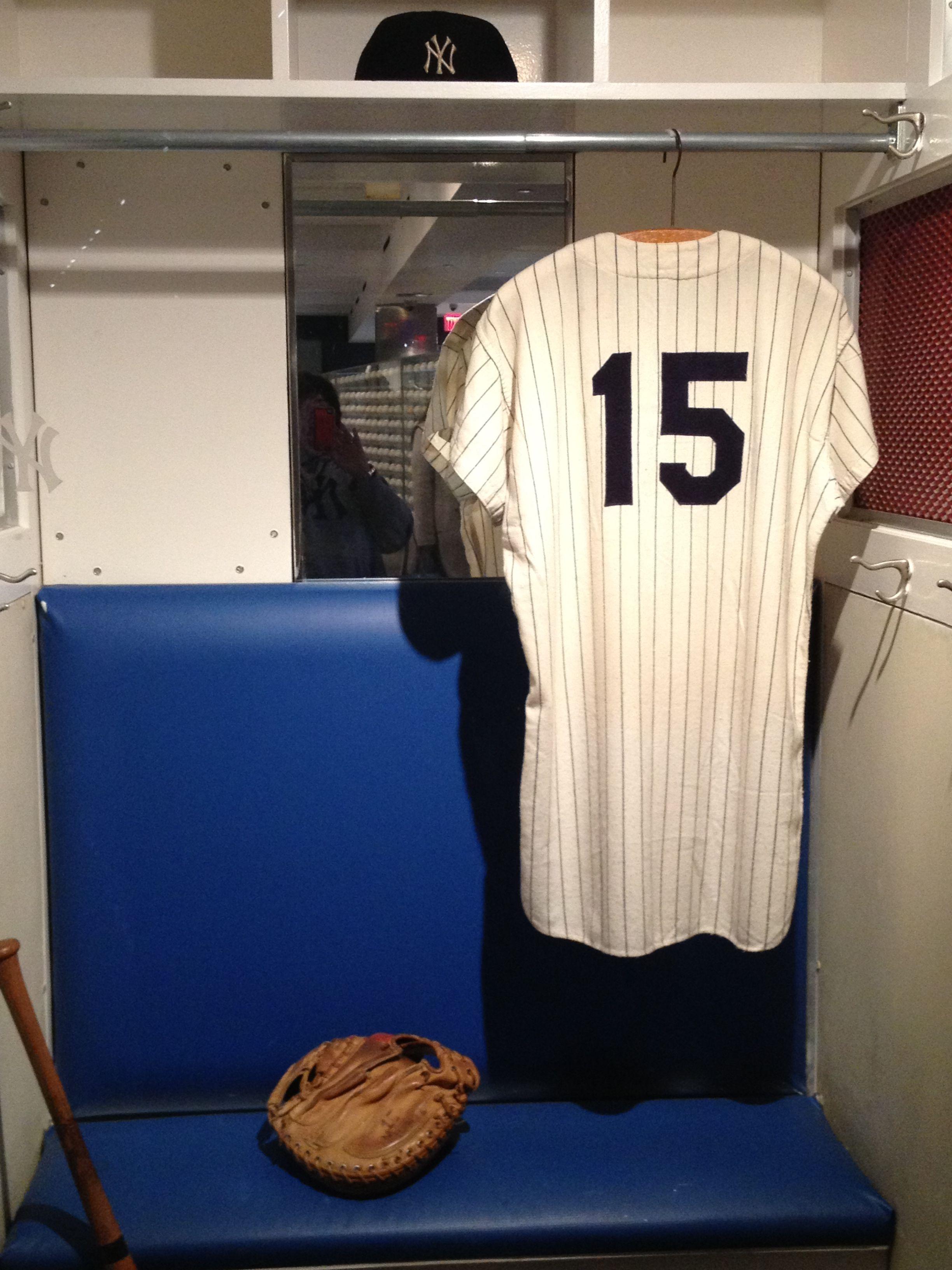 wholesale dealer 9f4e5 f9ff0 Thurman Munson's locker on display at Yankee stadium ...