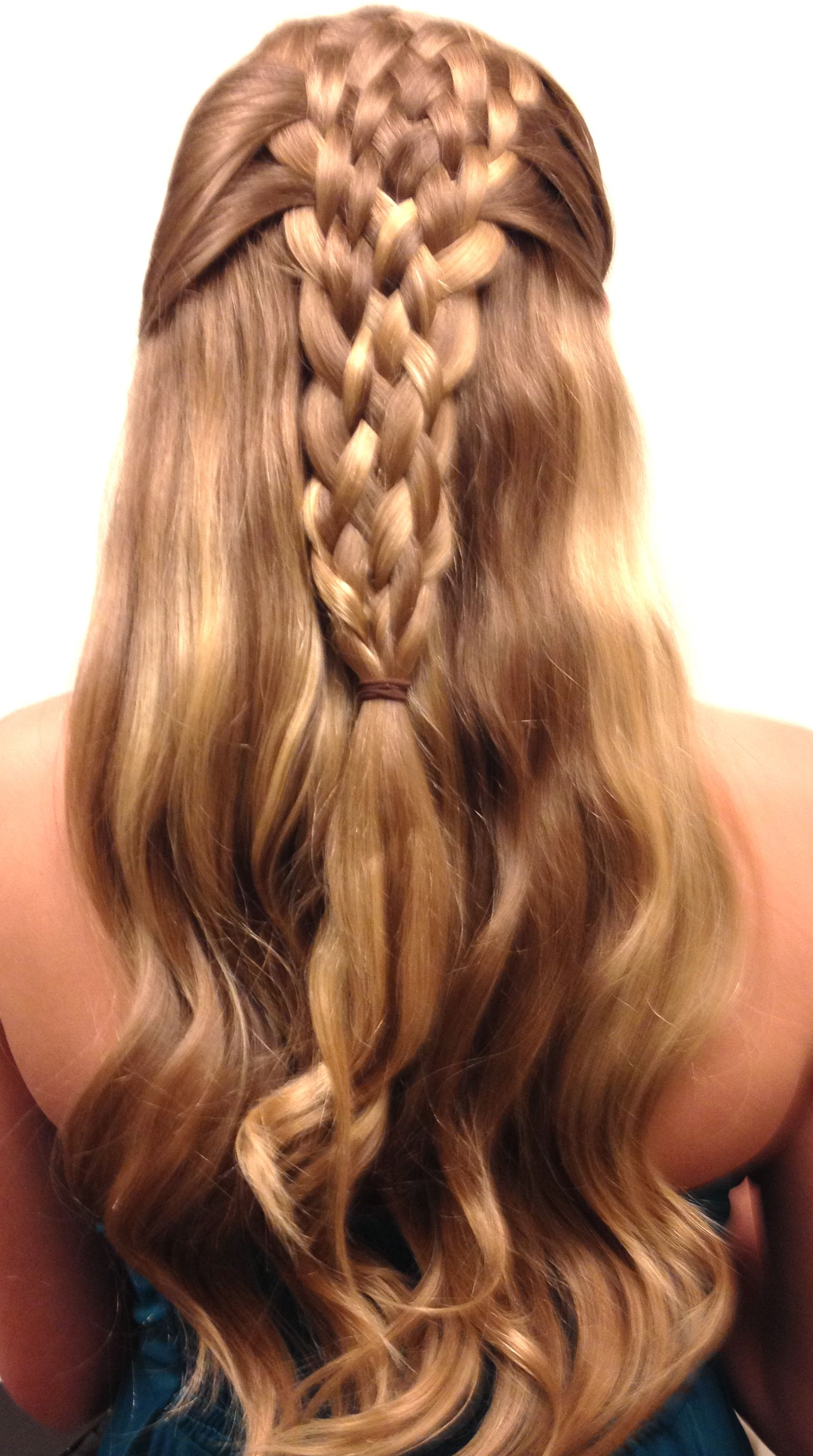 Basket Braid Over Loose Waves The Fine Art Of Beautiful Hair In