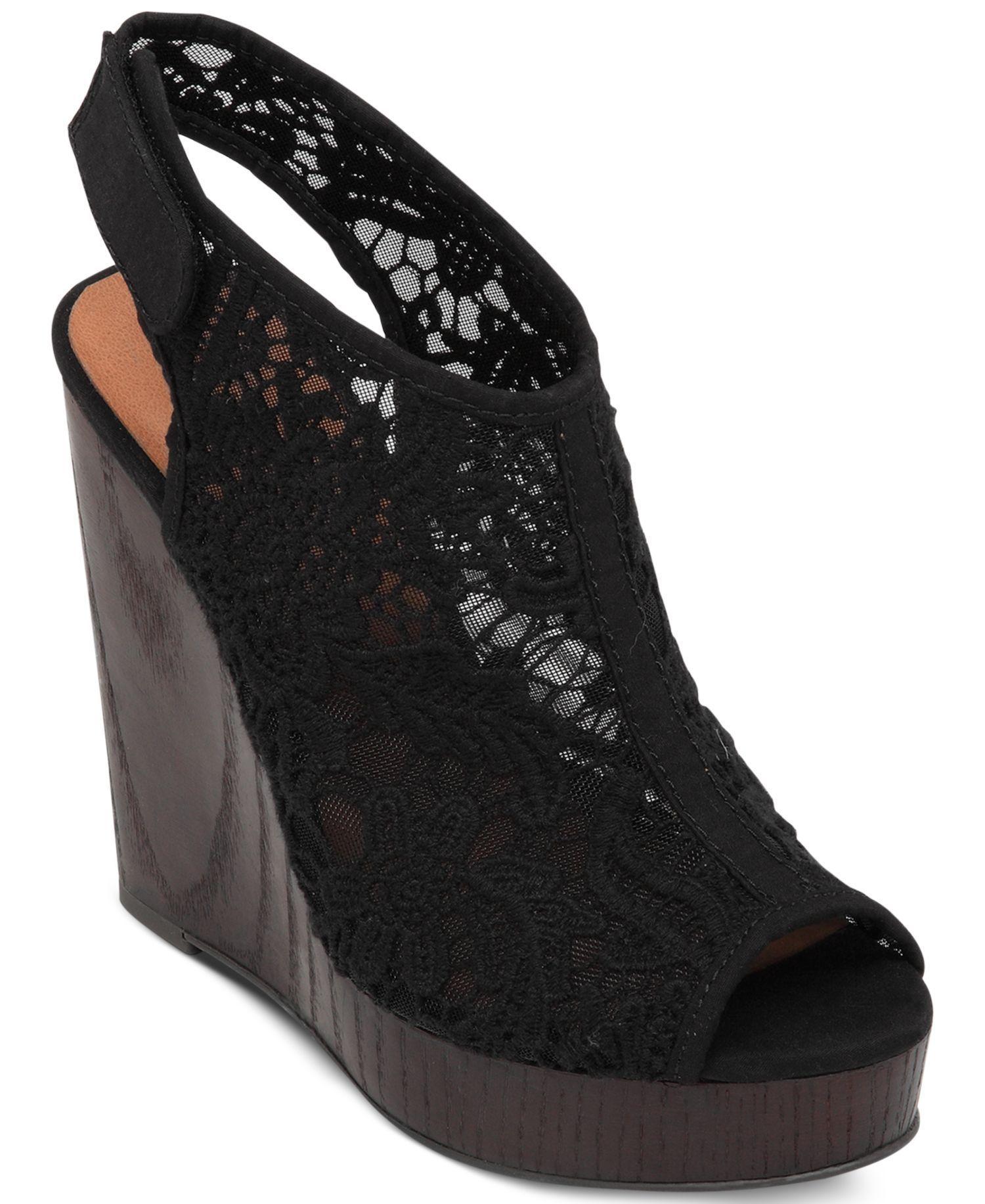 dae07e5d875 Women s Rezdah2 Crochet Platform Wedge Sandals by Lucky Brand - Found on  HeartThis.com
