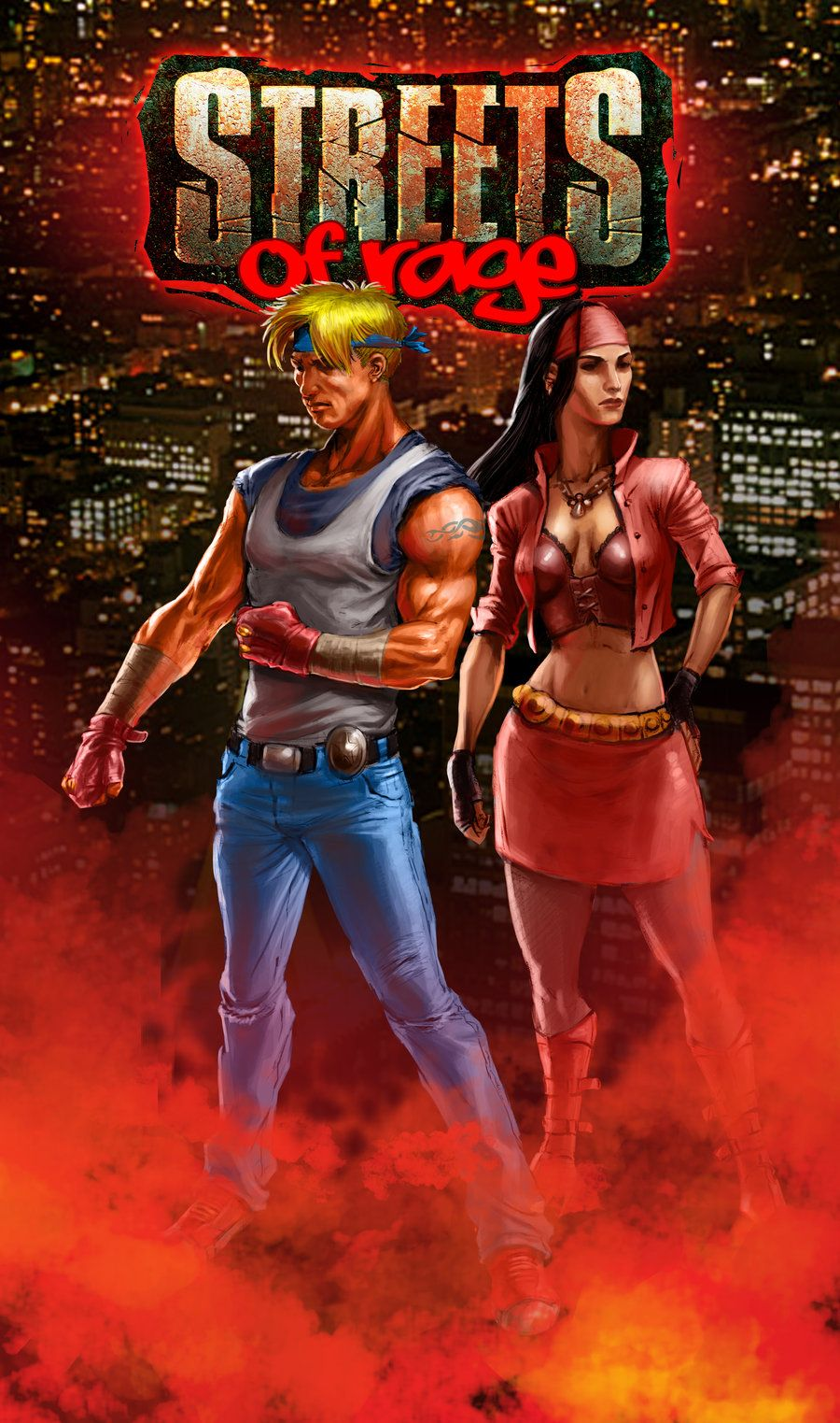 Streets Of Rage Colored By Hamex On Deviantart Classic Video Games Retro Games Poster Marvel Vs Capcom