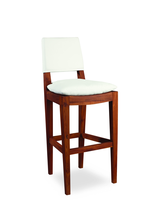 Remarkable Lee Industries Teak Outdoor Bar Stool In Spinnaker Salt Bralicious Painted Fabric Chair Ideas Braliciousco