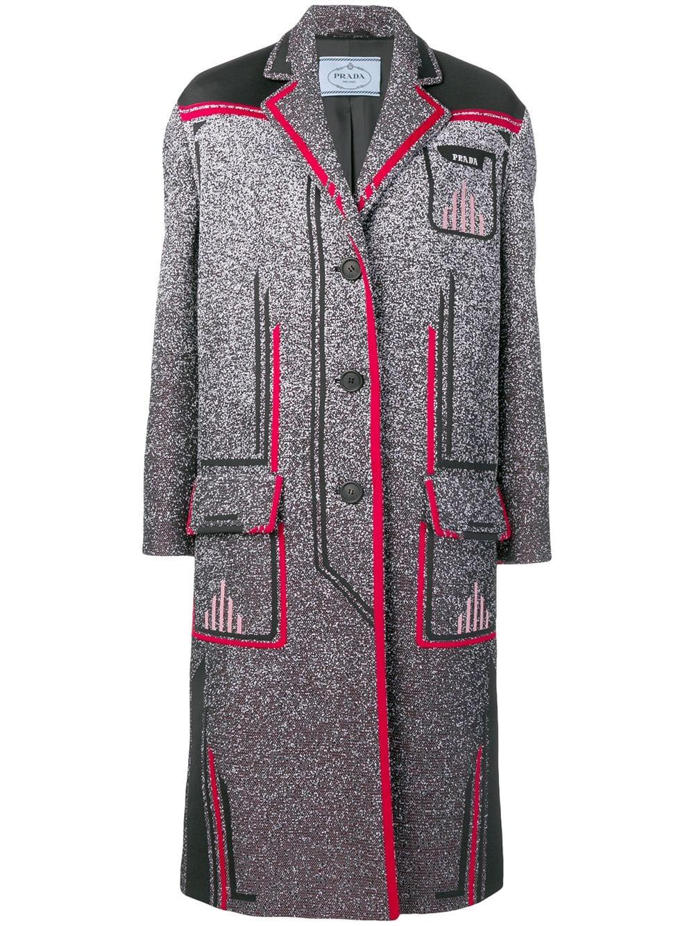 Prada Mid Length Coat Farfetch Fall Fashion Coats Womens Fall Coats Autumn Fashion [ 1334 x 1000 Pixel ]