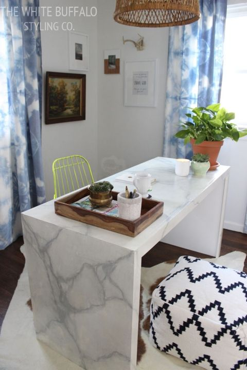 My Eclectic Office The Plan Thewhitebuffalostylingco Com Marble Desk Office Furniture Design Bedroom Office Space