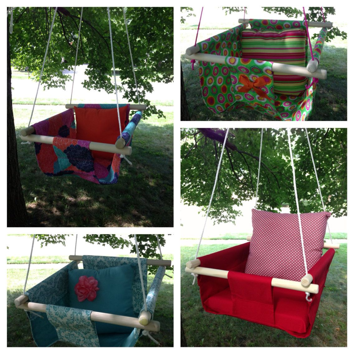 Indooroutdoor baby swingmade to by kissablelilmonsters on etsy