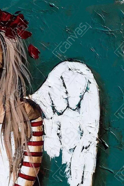 Feathery - Canvas Print
