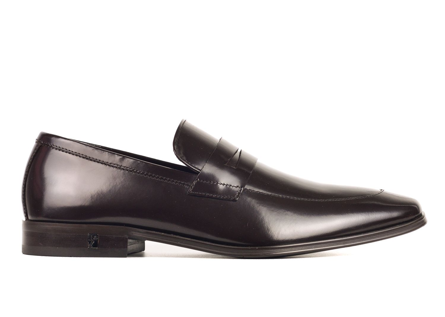 e3e2d12eb40 VERSACE VERSACE COLLECTION MENS BROWN LEATHER PENNY LOAFERS.  versace  shoes