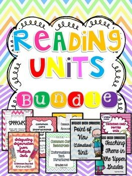Common Core Reading Units for 4th-5th Grade! This BUNDLE includes 8 different units complete with passages!