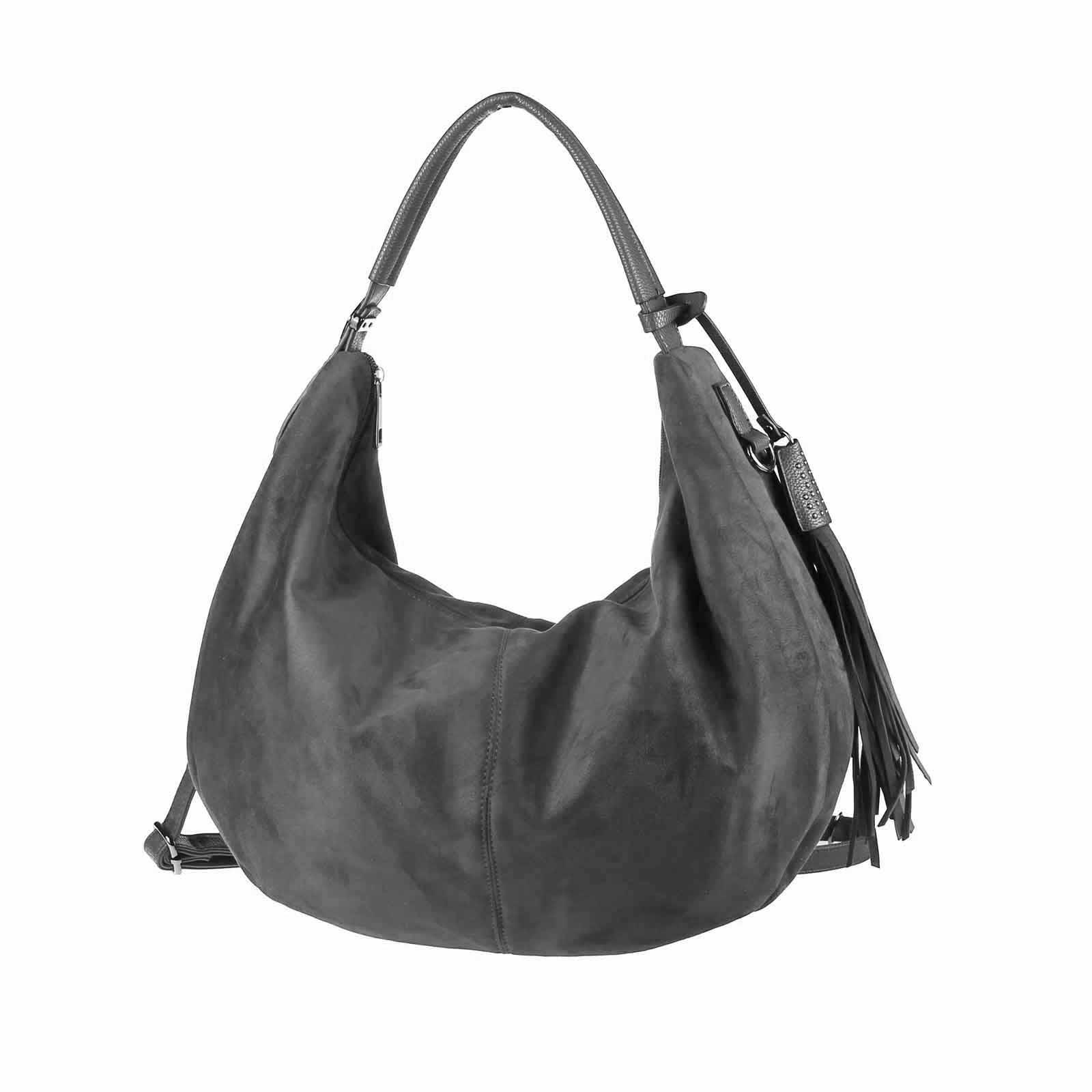 3a5eddbd48598 OBC ital-design DAMEN TASCHE BOWLING Hobo-Bag Shopper Fransen Handtasche  Henkeltasche Schultertasche