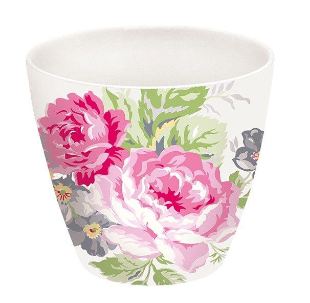 GreenGate Stoneware Latte Cup Vera Pale Pink