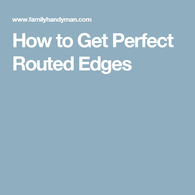 How to Get Perfect Routed Edges