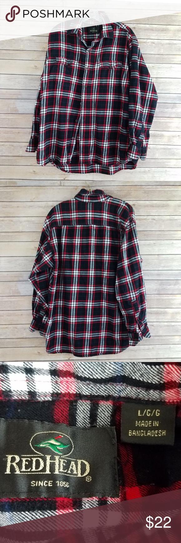 Flannel shirt black  Redhead Plaid Button Up Long Sleeve Flannel Shirt  My Posh Closet