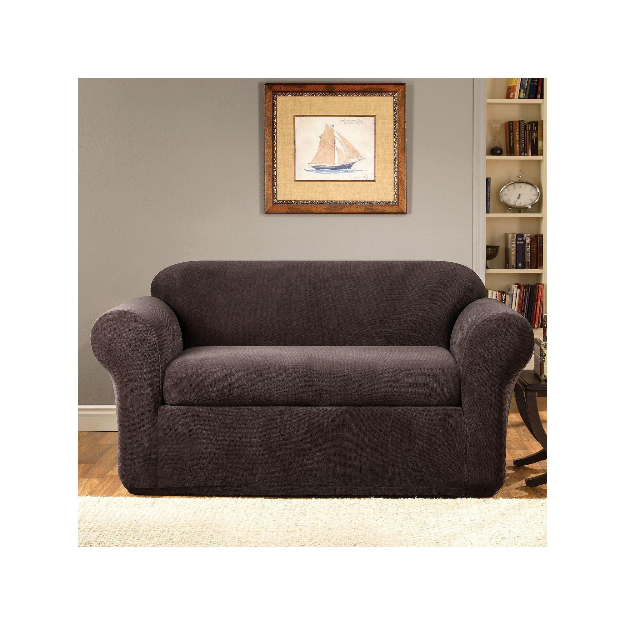 Sure Fit Stretch Metro 2 Pc Loveseat Slipcover Slipcovers Loveseat Slipcovers Cushions On Sofa
