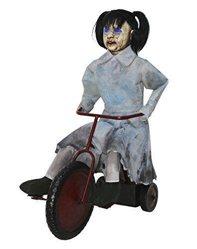 Spirit Halloween 25 Ft Tricycle Doll Animatronics - Deco