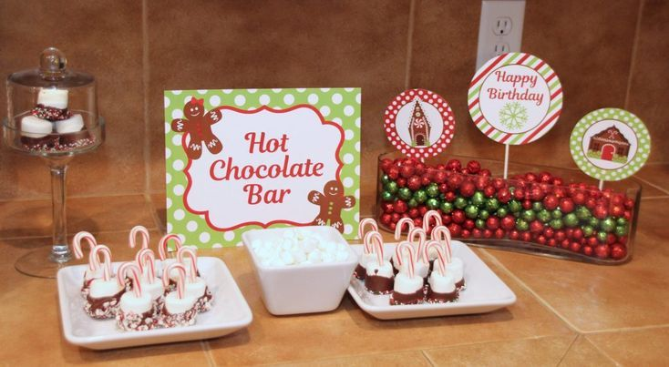 Gingerbread House / Cookie Decorating Christmas Party /Hot Chocolate Bar – 5M Creations Blog #hotchocolatebar