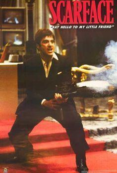 Scarface Little Friend Al Pacino Xl Giant Poster 40x60 Al Pacino Gangster Movies Scarface Poster