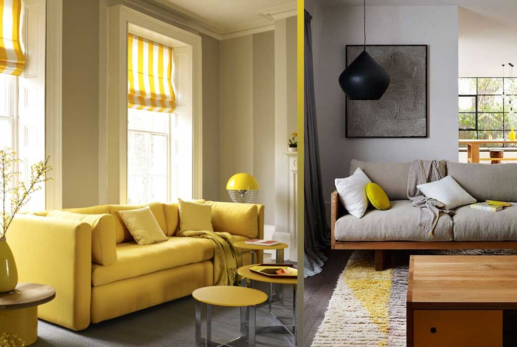 Yellow bedrooms grey and living rooms  hutsly uplifting energising  also the room decorating ideas kaplama pinterest rh