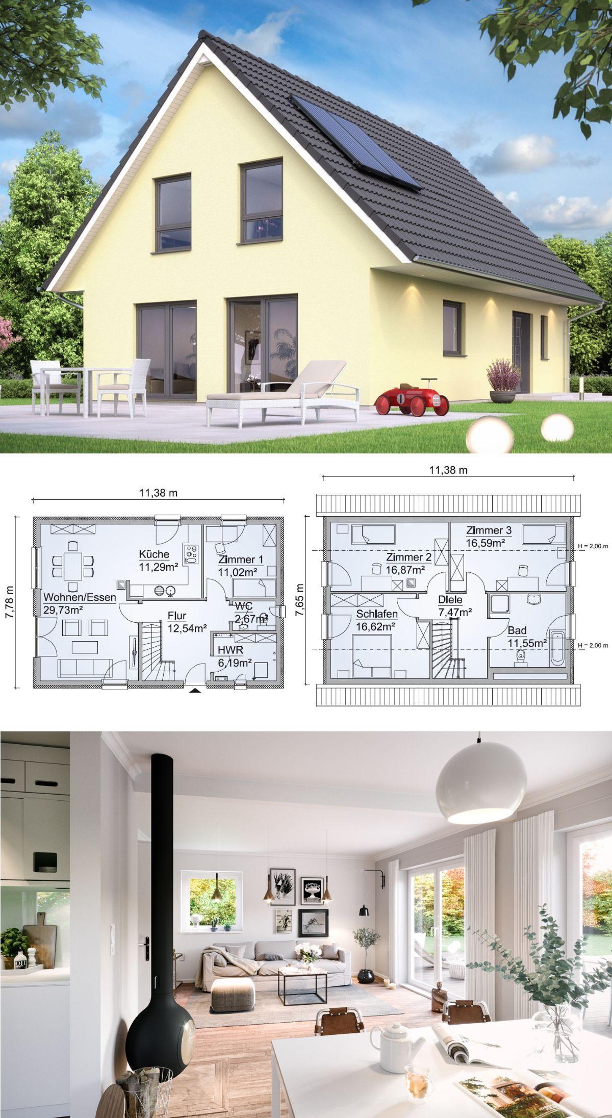 Modernes einfamilienhaus klassisch mit satteldach for Architektur klassisch