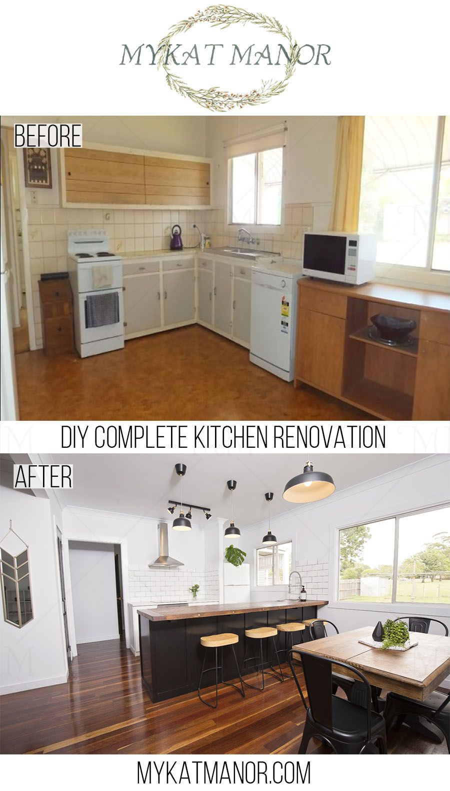 Diy Kitchen Renovation step by step guide. beforeandafter