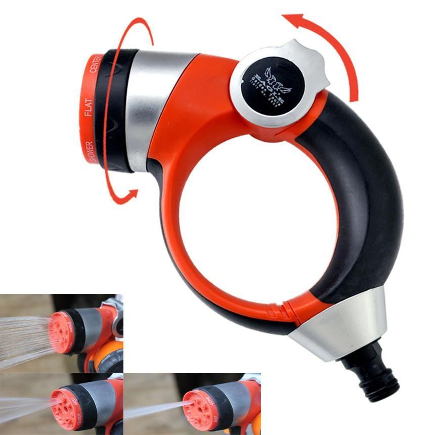 7 Spraying Function Handle Push Adjustable Spray Nozzle Garden High Pressure Watering Sprayer Sprayers High Pressure Spray
