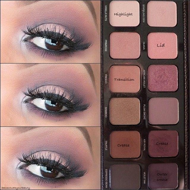❤️✨A soft plum smokey eye perfect for Fall using the Laura Mercier Artist Palette✨❤️.