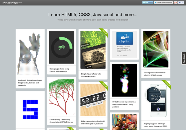 Learn Html5 Css3 Javascript And More Video Style Walkthroughs Showing Cool Stuff Being Created From Web Development Tutorial Web Graphic Design Web Design