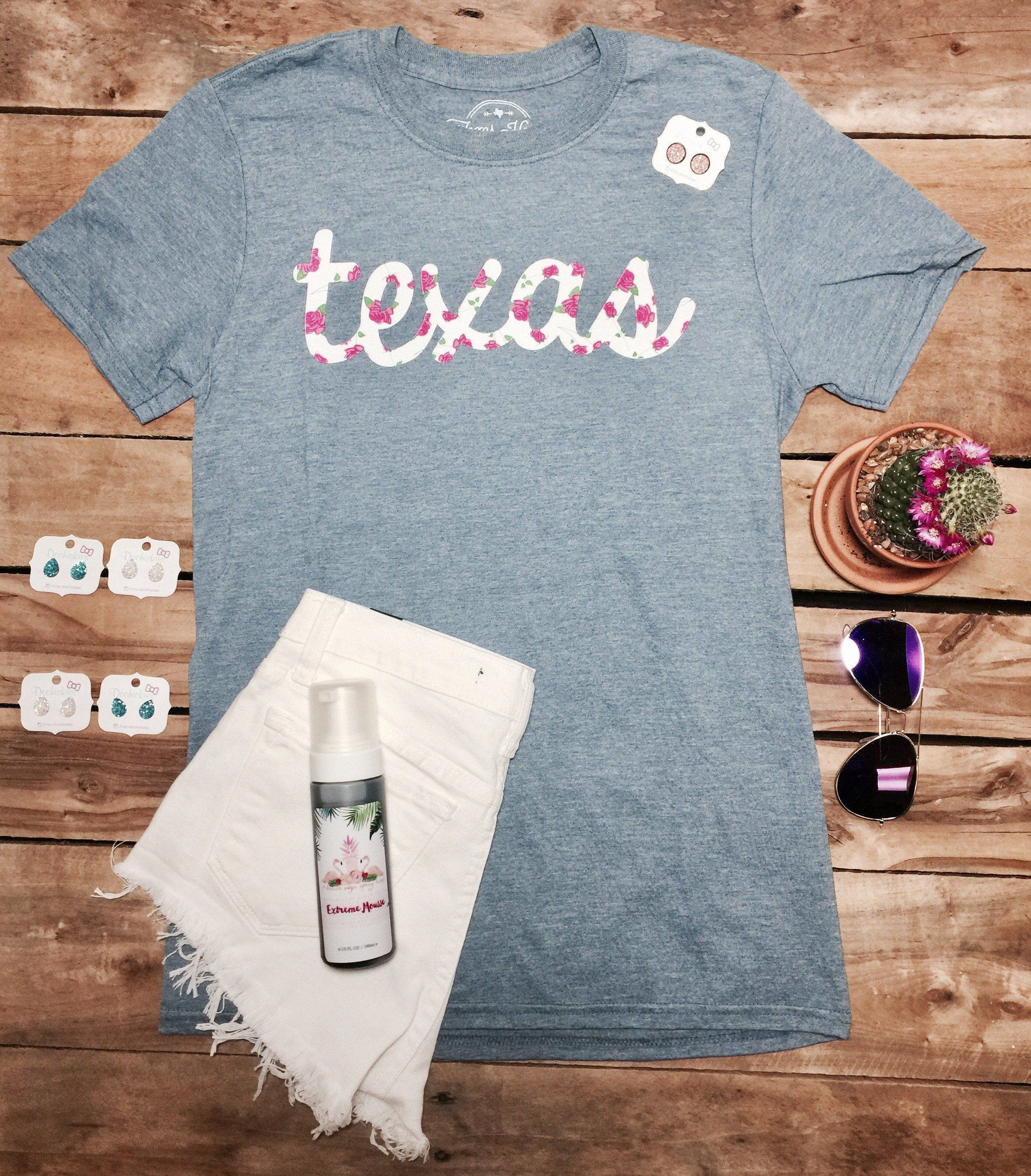 Texas floral cursive tee products pinterest cursive texas and