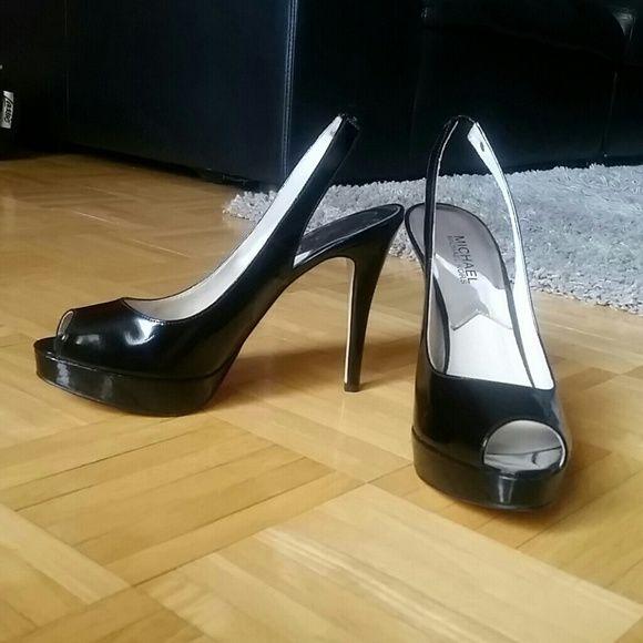 "Michael Kors sling back heels Black, size 9, never worn Michael Kors sling back heels, perfect condition, 4.5"" heel Michael Kors Shoes Heels"