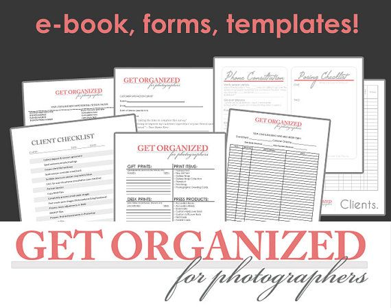 Get Organized FOR PHOTOGRAPHERS Photography Business Forms, E-book and Templates Contract with Model
