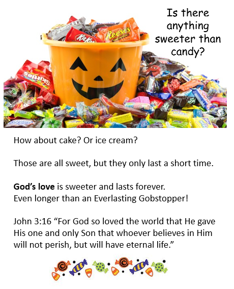 photograph relating to Free Printable Gospel Tracts called Cost-free Printable Gospel Tract for Halloween Trick or Take care of
