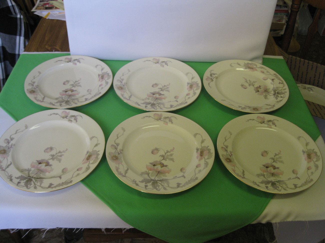 EPIAG Pastelle China Six (7) Dinner Plates Czechoslovakia