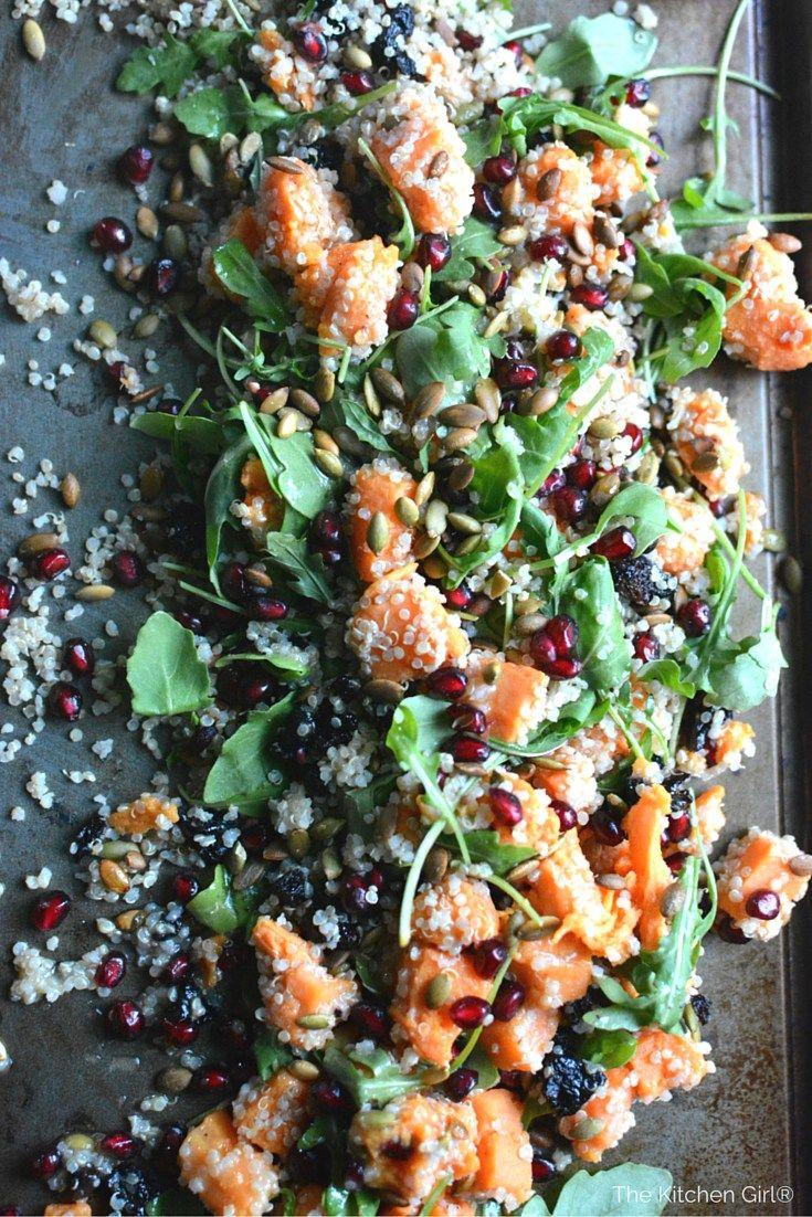 autumn quinoa sweet potato arugula salad recipe pinterest christmas side dishes christmas side and arugula salad - Christmas Side Dishes Pinterest