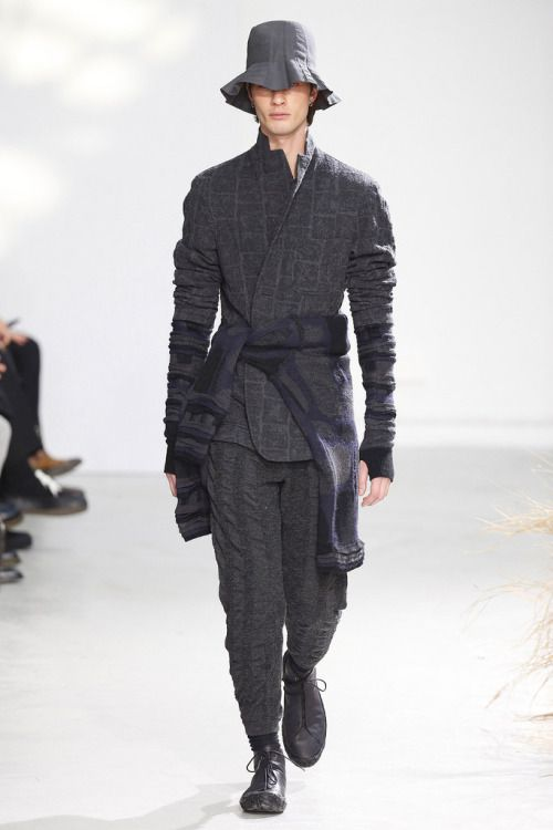 Best 6 Winter Streetwear Outfit Combinations: Issey Miyake Fall 16. Menswear Mnswr Mens Style Mens