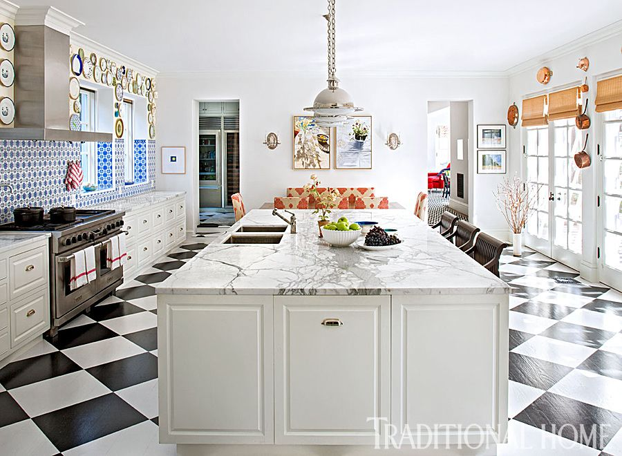 Spirited manor home in los angeles kitchens we love pinterest kitchen traditional house for Kitchen designer los angeles