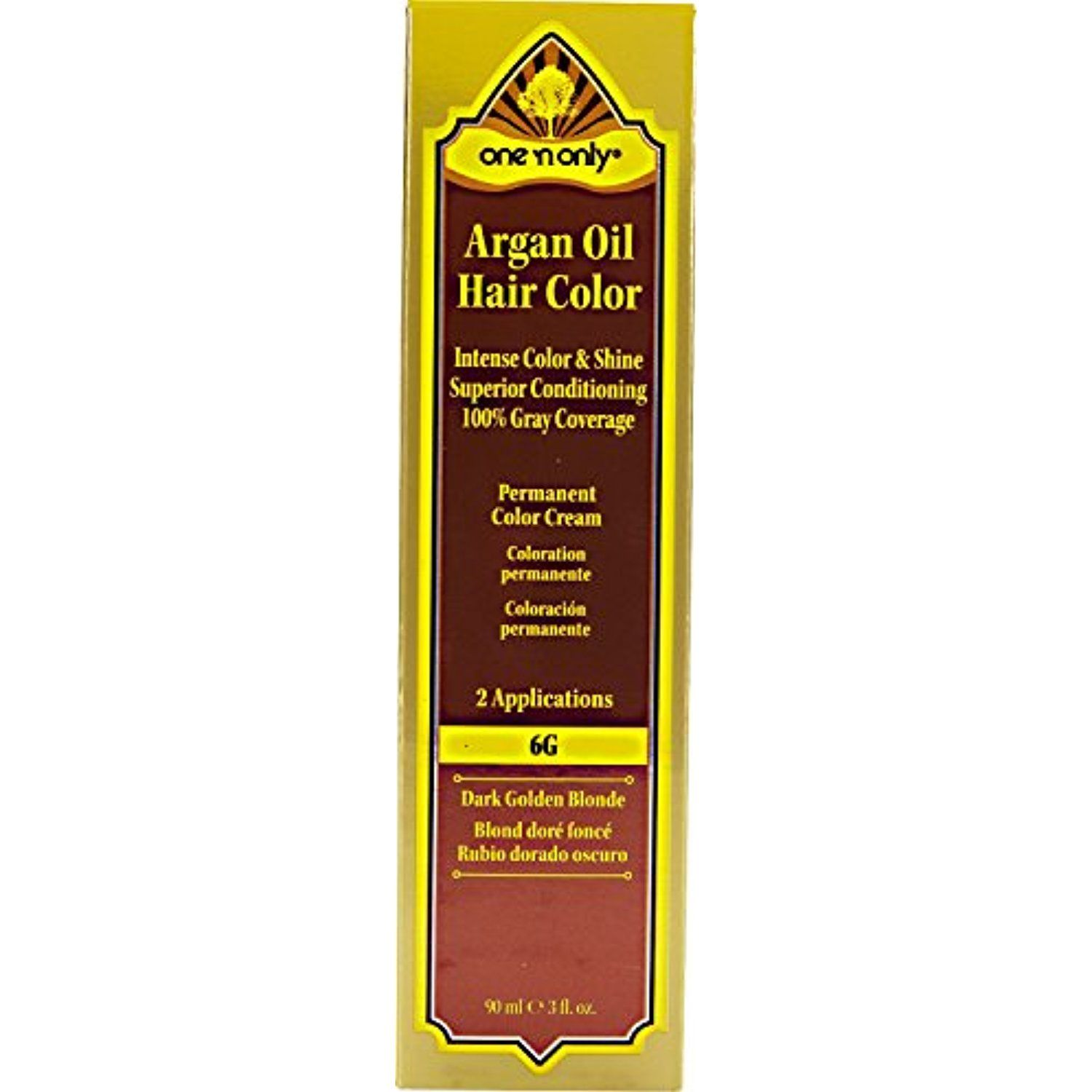 One N Only Argan Oil Hair Color 6g Dark Golden Blonde Read More